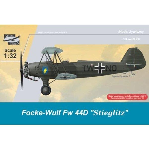 Focke Wulf Fw 44D Stieglitz auf Rädern. 127 Harz-Teile (umgedrehte Version) Mask s Instruktionseisen verstärkten Spreizen und F