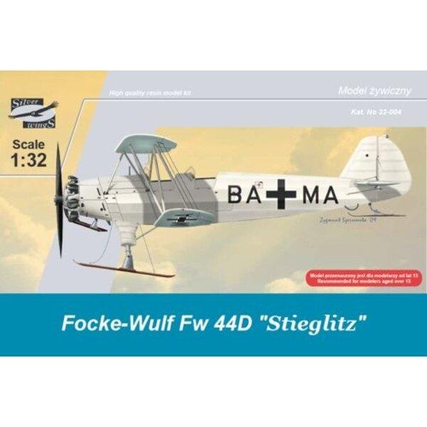 Focke Wulf Fw 44D Stieglitz auf Skis. Abziehbild-Luftwaffe. 130 Harz-Teile (Skiversion) Maskierungseisen verstärkten Spreizen u