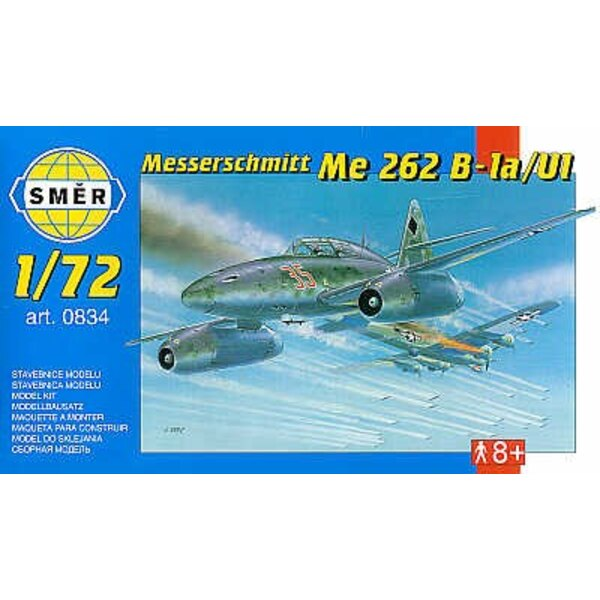 Messerschmitt Me 262B1a/U1 mit geätzt