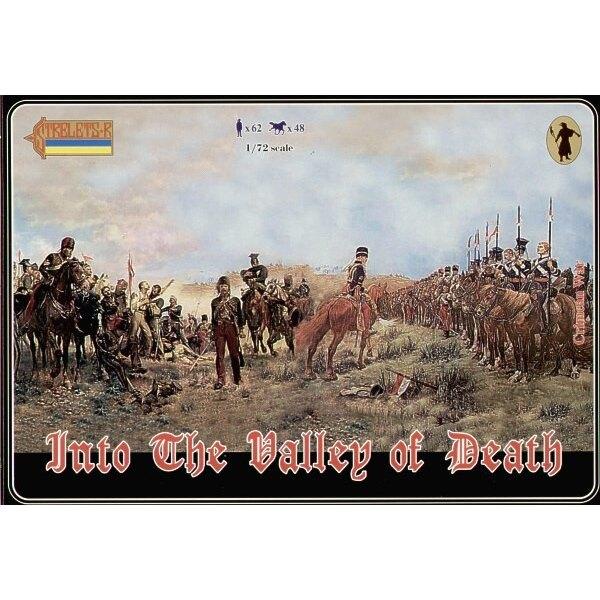 In Den Valley Of Death Inc neuer Satz der britischen Leichten Brigade und Sätze 36 40 und 50