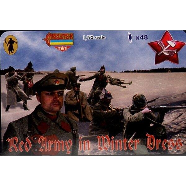 Rote Armee im Winterkleid. Russischer Bürgerkrieg