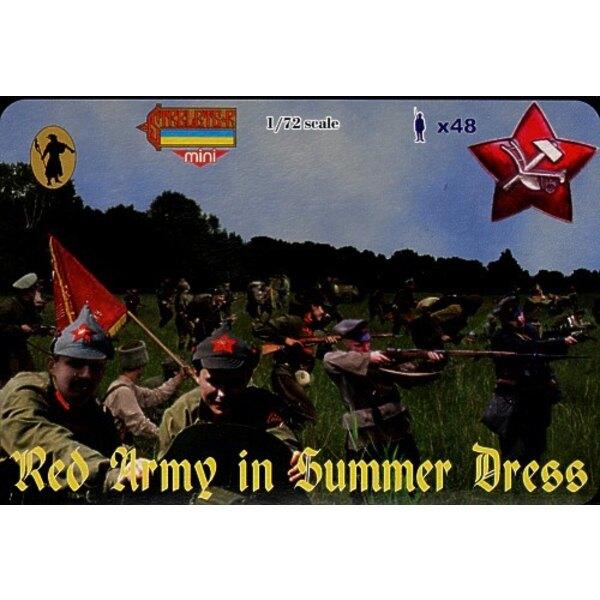 Rote Armee im Sommerkleid. Russischer Bürgerkrieg