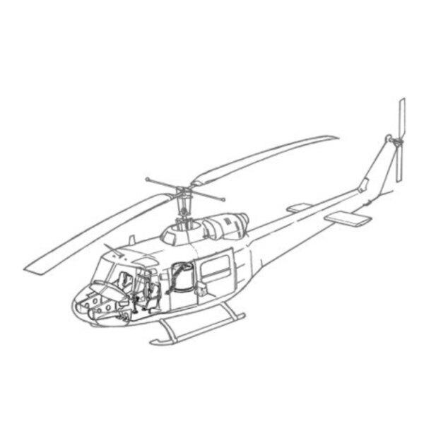 Bell UH-1B Interior (für Italeri-Modelle für