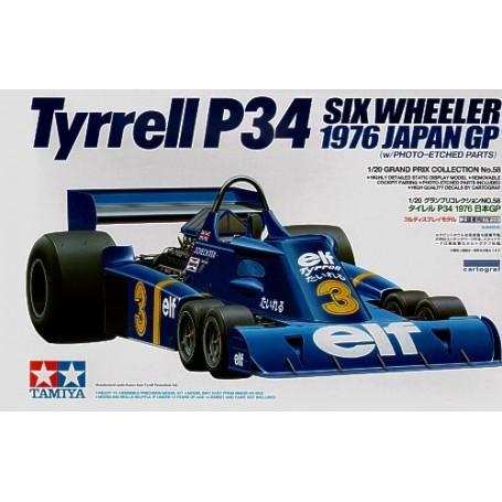 Tyrrell P34 1976 japanische GP damit ätzen Teile