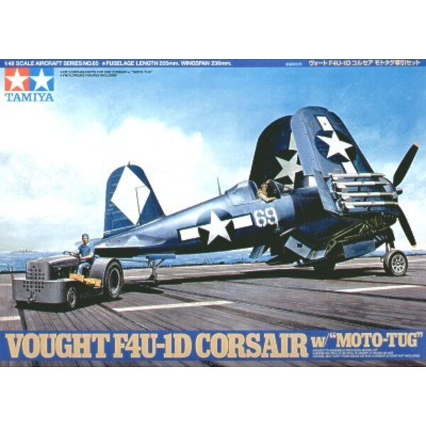 Vought F4U-1D Corsair with Towing tractor