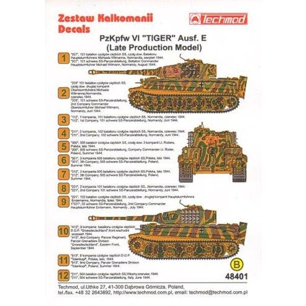 Pz.Kpfw.VI Tiger Aust. E (Late Production Model)