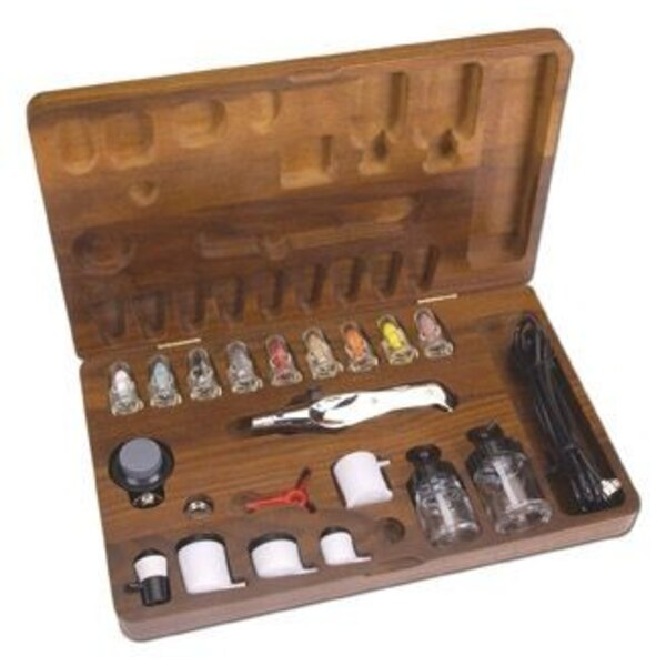 A470 metal bodied Airbrush 6' Hosea choice of nozzles and paint cups.Instruction manual & Video Wooden Case