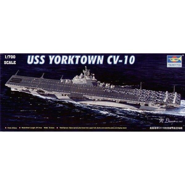 USS Yorktown CV- 10 Flugzeugträger. Mit dem niedrigeren Rumpf oberer hul Wasserlinie-Teller und vacform Seewasserbasis