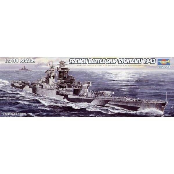 Schlachtschiff der Marine Nationalen Richelieu 1943
