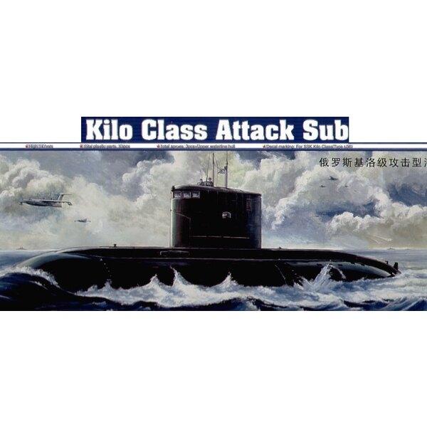 Russisches Kilo-Klasse Angriffsunterseeboot (auch mit Wasserlinie-Rumpf-Auswahl)