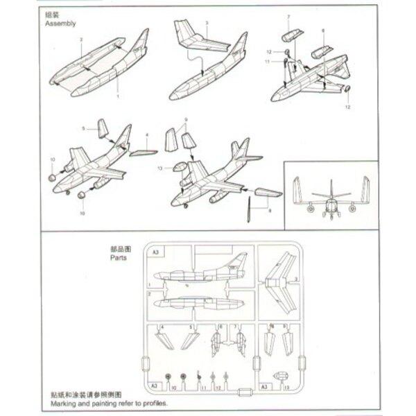 Douglas A-3D Skywarrior x 6 Sätze pro Schachtel