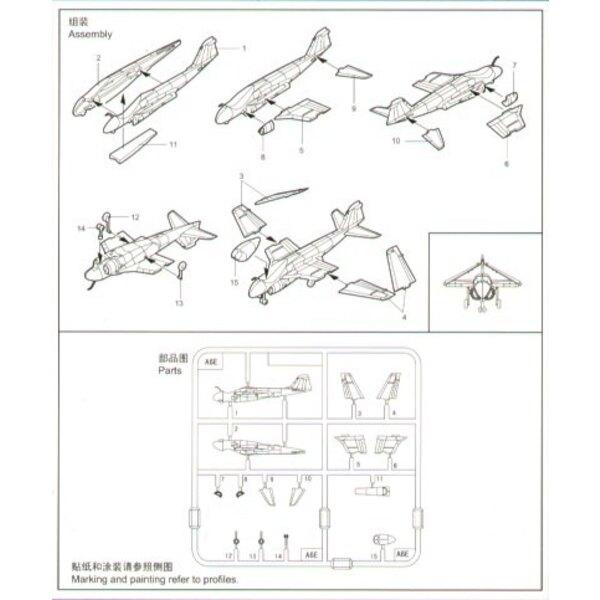 Grumman A-6e Intruder x 6 Sätze pro Schachtel