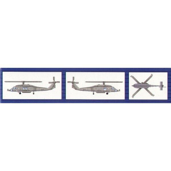 Sikorsky HH-60H Rescue Hawk x 6 pro Satz
