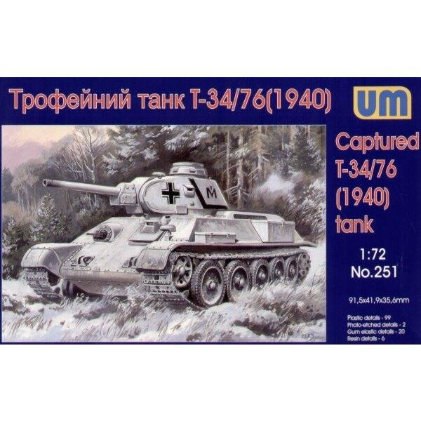 Gewonnener T34/76 Panzer (mit Harz-Teilen)