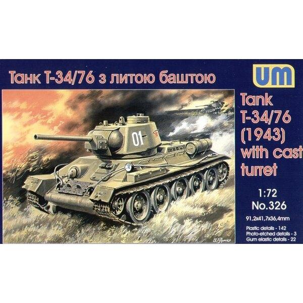 T-34/76 Modell 1943 mit Wurf-Türmchen
