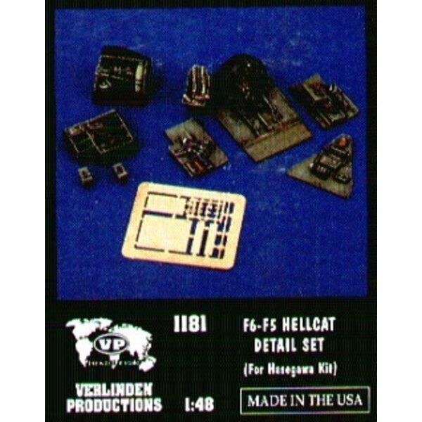 Aktualisierungssatz von Grumman F6F-5 Hellcat (für Bausätze von Hasegawa)