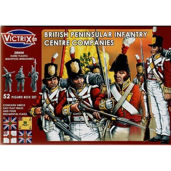 Britische Halbinselförmige Zentrum-Gesellschaften t52 individuelle Figuren einschließlich des Offizier-Standardträger-UNTEROFFIZ