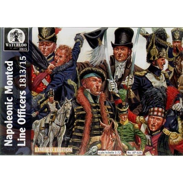 Napoleonischer Mounted Linienoffiziere