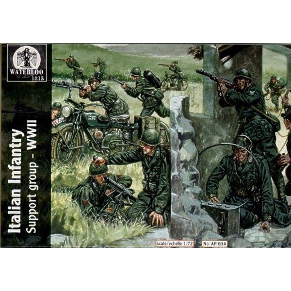 Italienische Infanterie-Unterstützungsgruppe (34 Stücke) beinhaltet 2 jede Motorfahrrad-Bordfunker-Maschinengewehr-Besatzung byc