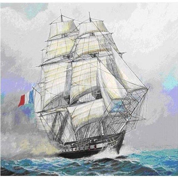 Französische Fregatte 'der Acheron'