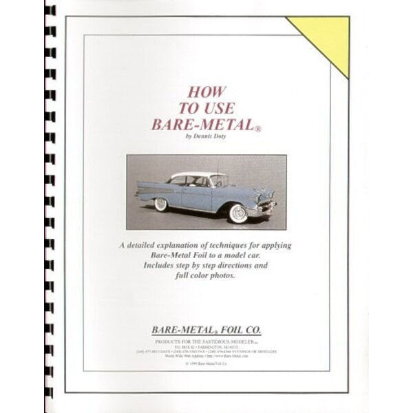 Booklet on how to use BARE METAL FOIL on model cars