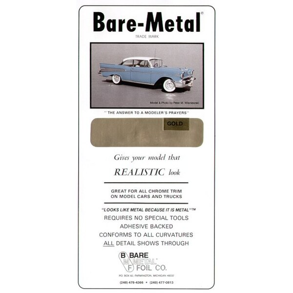 BARE METAL FOIL Gold (self adhesive)