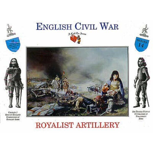 Royalistische Artillerie 16 Figuren