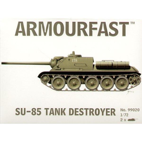 SU-85: Satz schließt 2 Schnappen zusammen Panzer-Bausätze ein