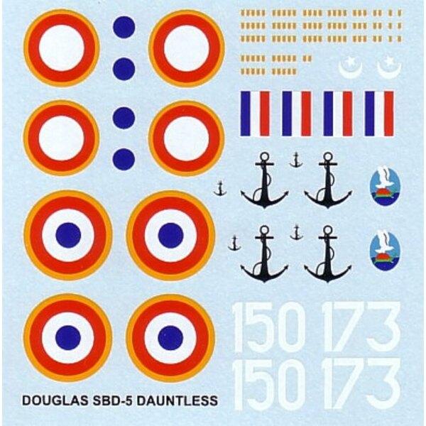 Douglas SBD-5 Dauntless (2) White 150 3FB White 173 4FB both 1944