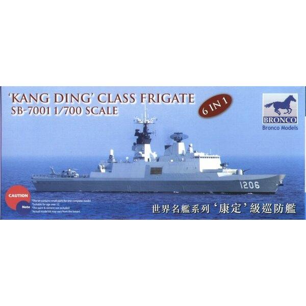 Kang Ding Klasse Fregatte mit geätzten Gittern und Standplatz