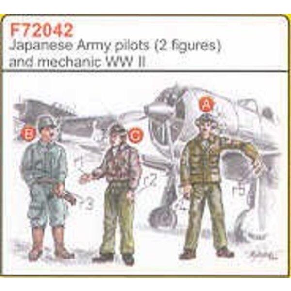 2 japanische Armeepiloten-2WK +