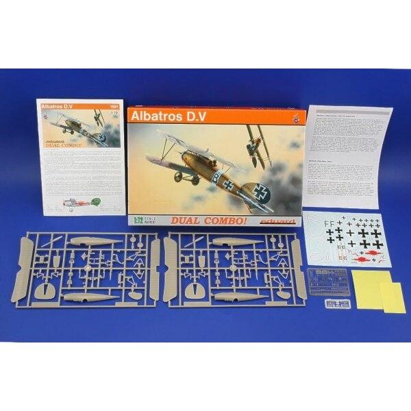 Albatros D.V DOPPEL-COMBO (Macht 2 ganze Bausätze)