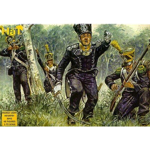 Napoleonische französische Leichte Infanterie 48 Figuren. Post-1812-Französisch leichte Infanterie.