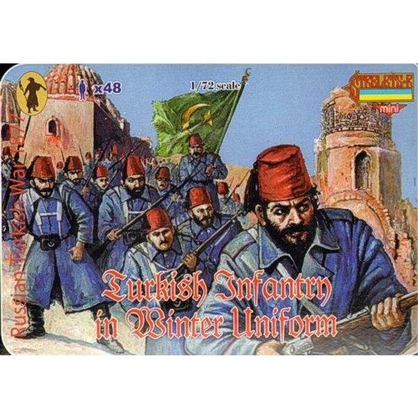 Türkische Infanterie im Winteruniform-1877-Russo-Türkisch-Krieg 1877
