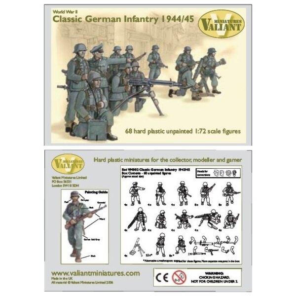 Deutsche Infanterie 1944-45. 68 harte Plastikfiguren