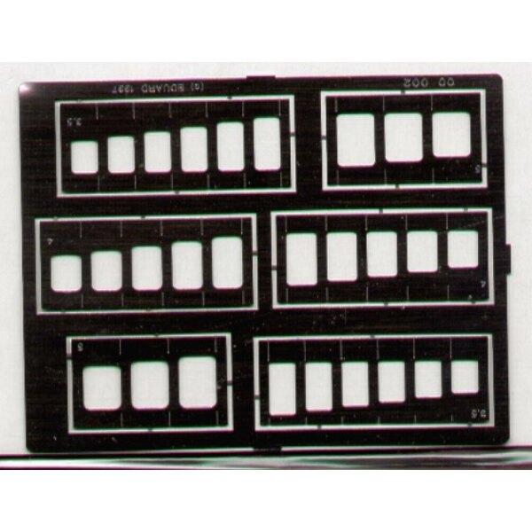 Schablonen von Squares & Oblongs. Sortierte Größen