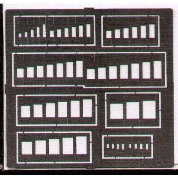 Oblongs Schablone. Sortierte Größen
