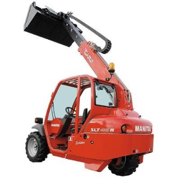 Manitou tawisco slt 415 + Müllcontainer