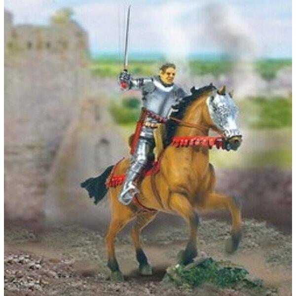 Ritter der Krieg von 100 Jahren + Pferd 1:32