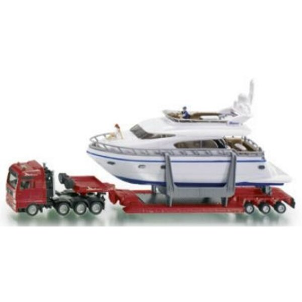 Tieflader mit yacht 1:87