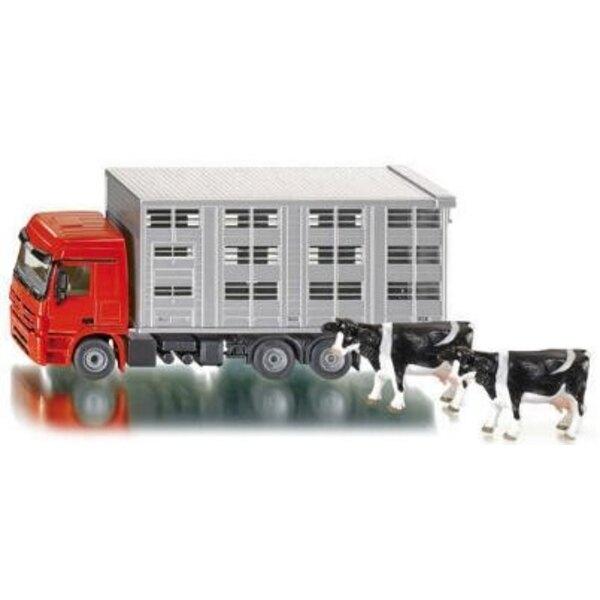 Viehtransporter mit Kühen 1:50