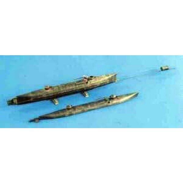 hunley mini U-Boot 1:32