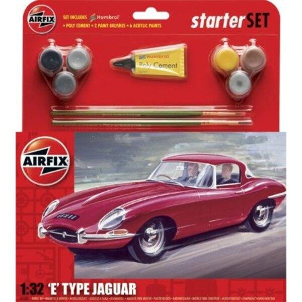 E Typ Jaguar Starte-Set - schließt Acrylfarben, Bürsten und Kleber