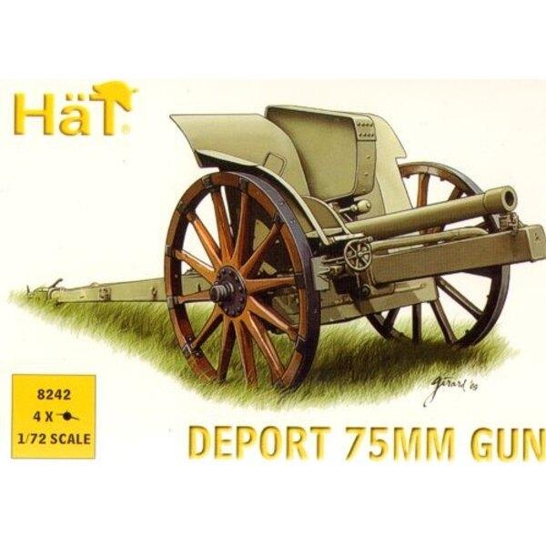 1.WK Italiener 75 Mm Deportiert Kanone