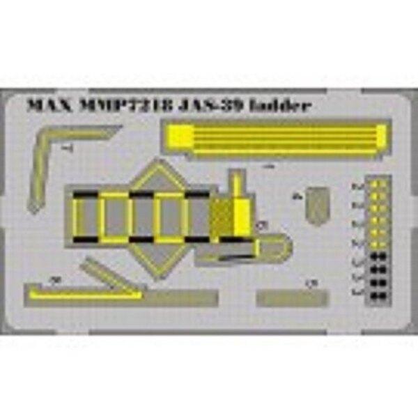 Verschalen-Leiter von SAAB JAS39 Gripen vorgemalt (für Bausätze von Hasegawa)