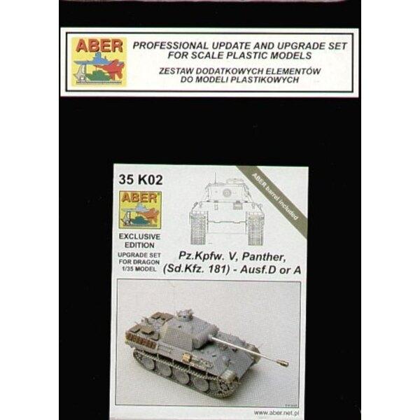 Pz.Kpfw.V Panther Ausf. A/D (für Bausätze von Dragon) Berufsaktualisierung und Upgradesatz für Dragon Panther Ausf. A oder D