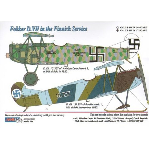 Fokker D.VII in the Finnish Service x 2