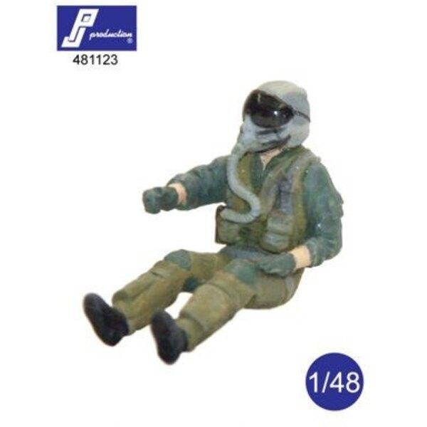 F-16/F-18 Pilot in a / c gesetzt (zwei rechte Arme sind für die verschiedenen Flug-Positionen zur Verfügung gestellt)