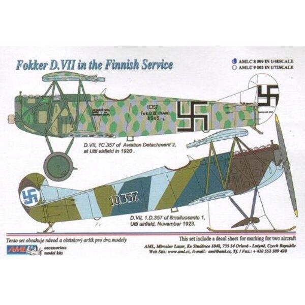 2 Abziehbild-Versionen: Fokker D. VII in der finnischen Dienst
