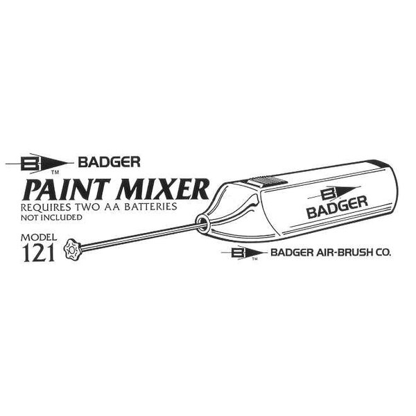 Paint mixer for 1oz 3oz and 4oz jars requires 2 x batteries which are not supplied